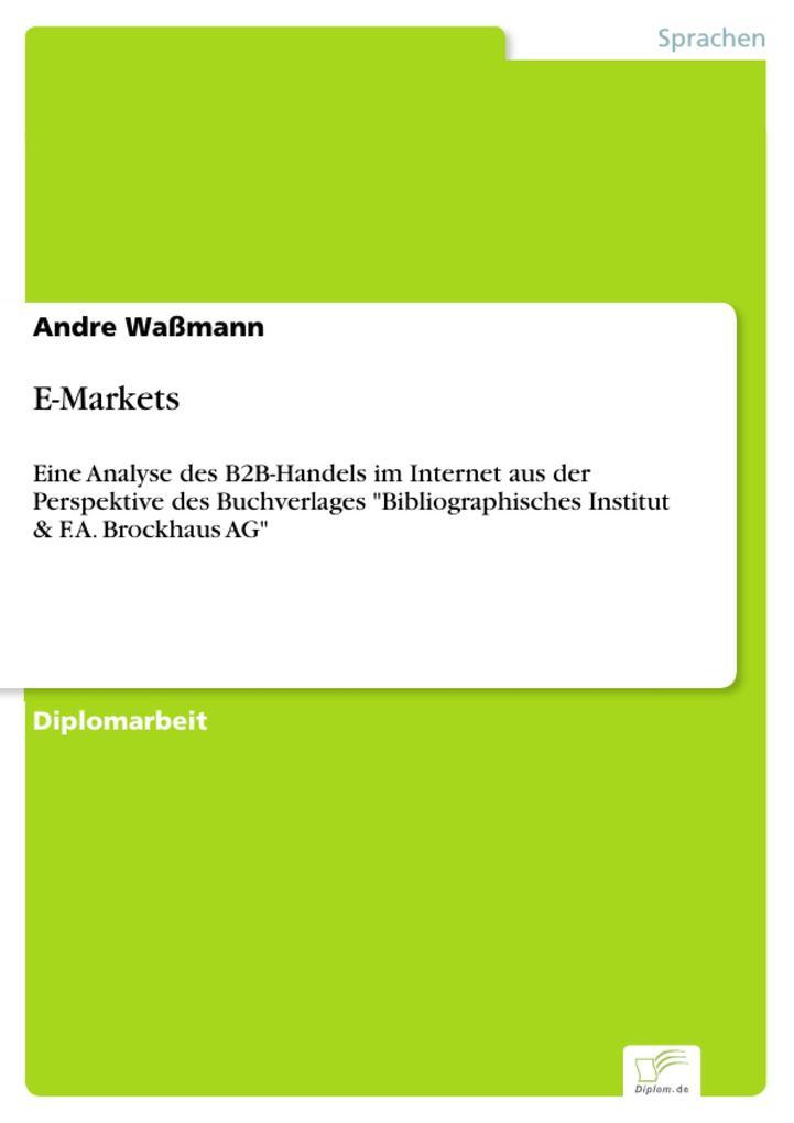 E-Markets als eBook Download von Andre Waßmann
