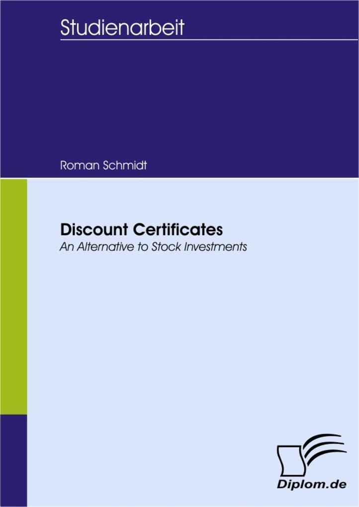 Discount Certificates als eBook Download von Ro...