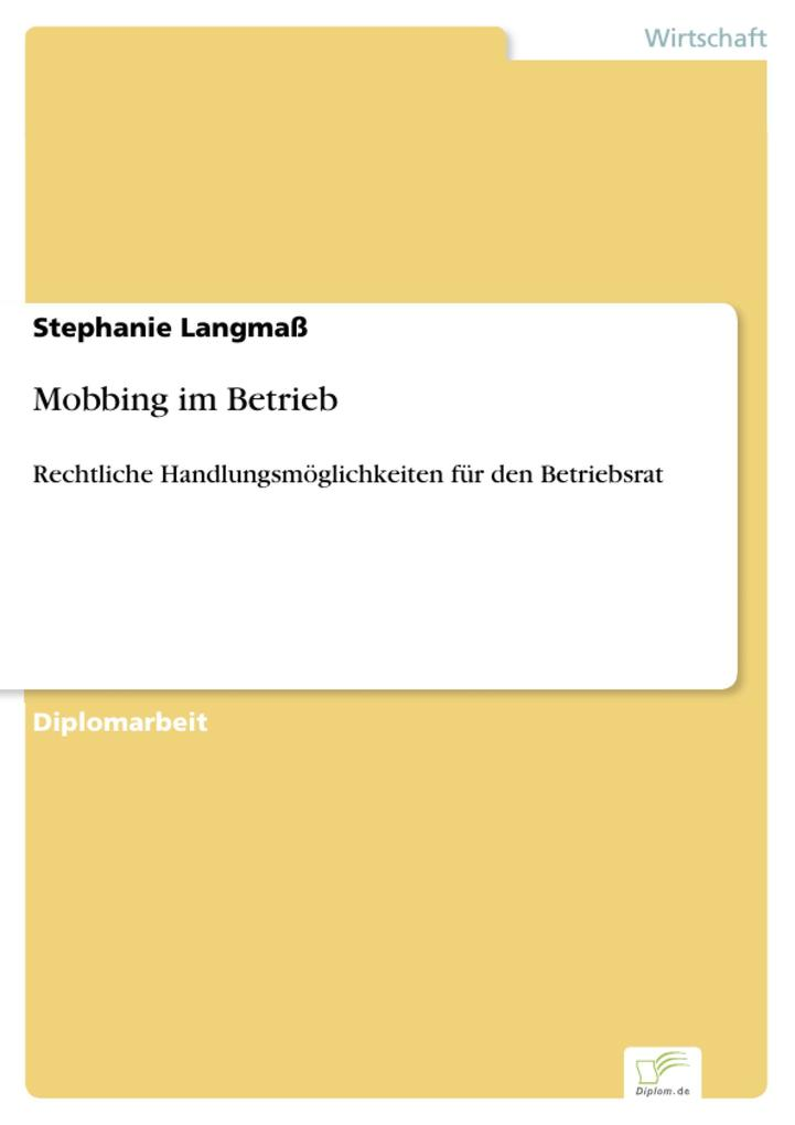 Mobbing im Betrieb als eBook Download von Steph...