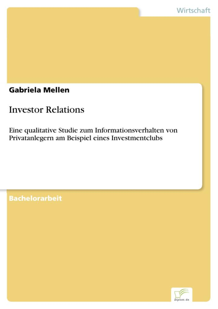 Investor Relations als eBook Download von Gabri...