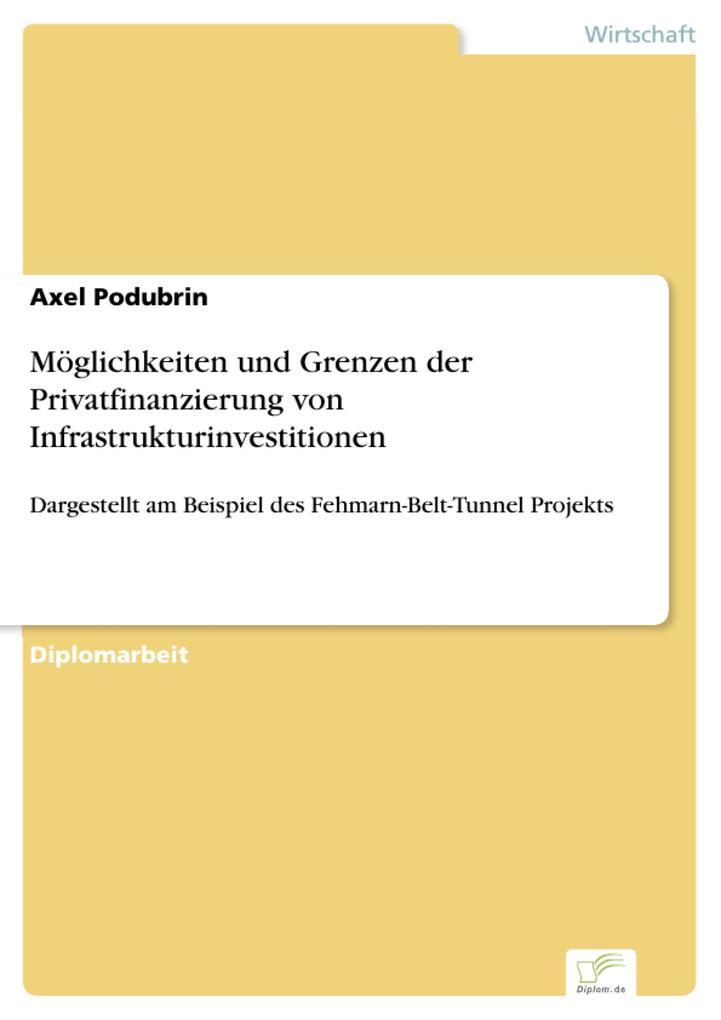 Möglichkeiten und Grenzen der Privatfinanzierun...
