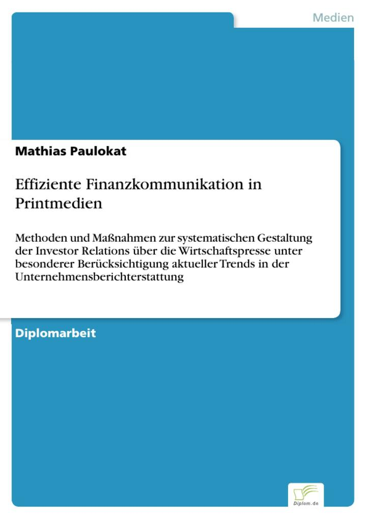 Effiziente Finanzkommunikation in Printmedien a...