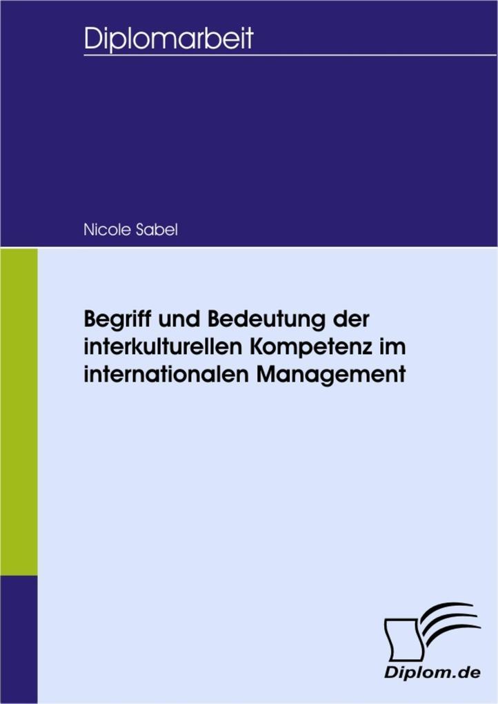 Begriff und Bedeutung der interkulturellen Komp...