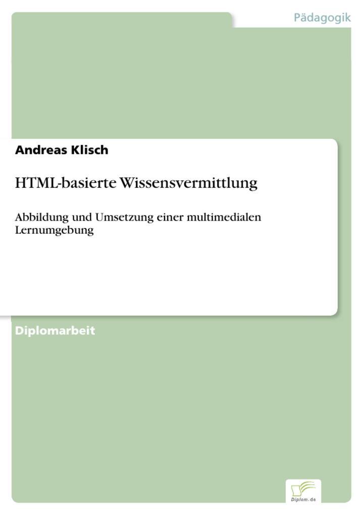 HTML-basierte Wissensvermittlung als eBook Down...