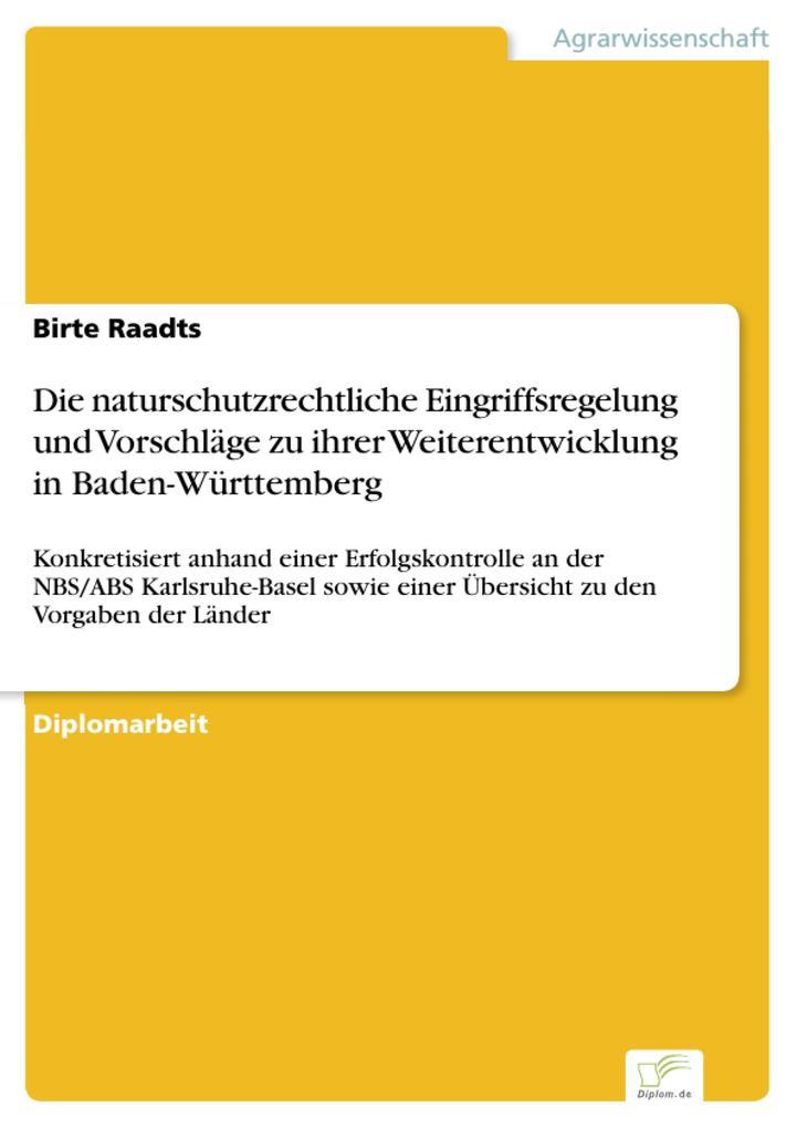 Die naturschutzrechtliche Eingriffsregelung und...