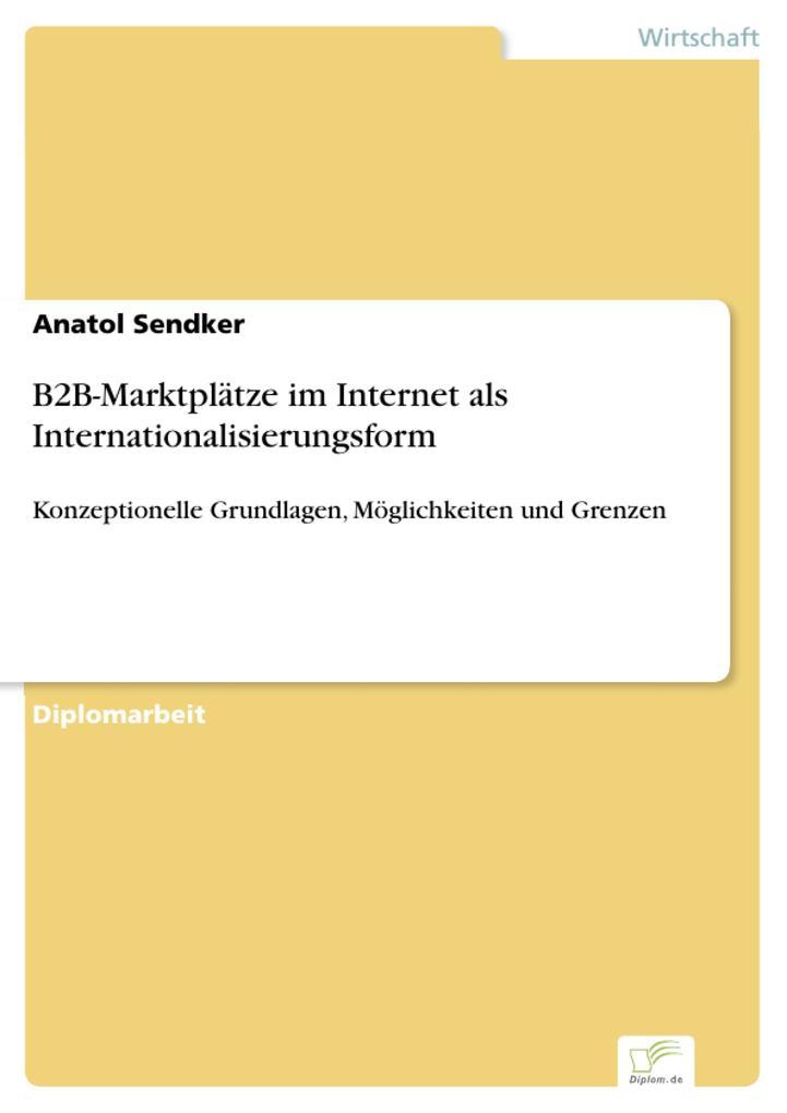 B2B-Marktplätze im Internet als Internationalis...