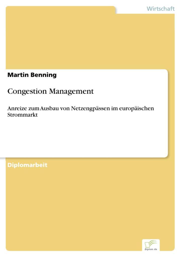 Congestion Management als eBook Download von Ma...