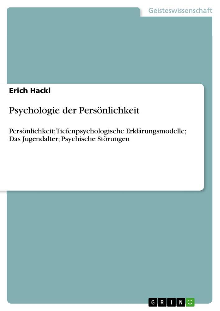 Psychologie der Persönlichkeit als Buch von Eri...