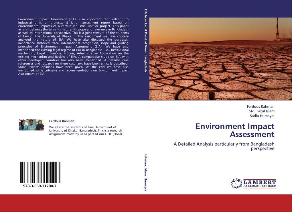 Environment Impact Assessment als Buch von Ferd...