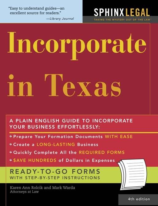 Incorporate in Texas als eBook Download von Mar...