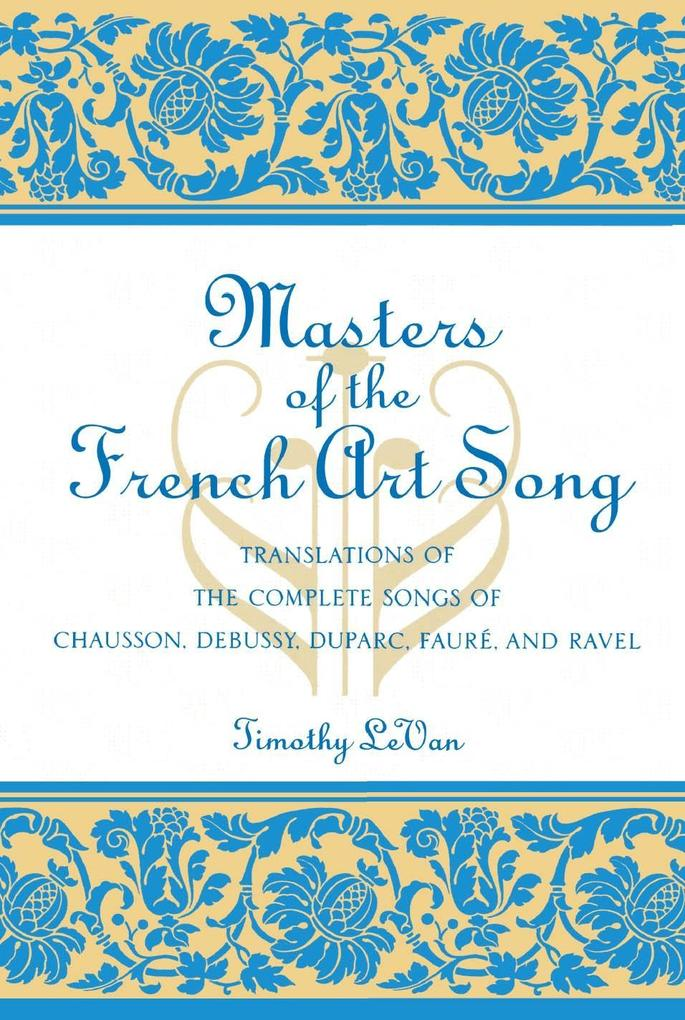 Masters of the French Art Song als eBook Downlo...