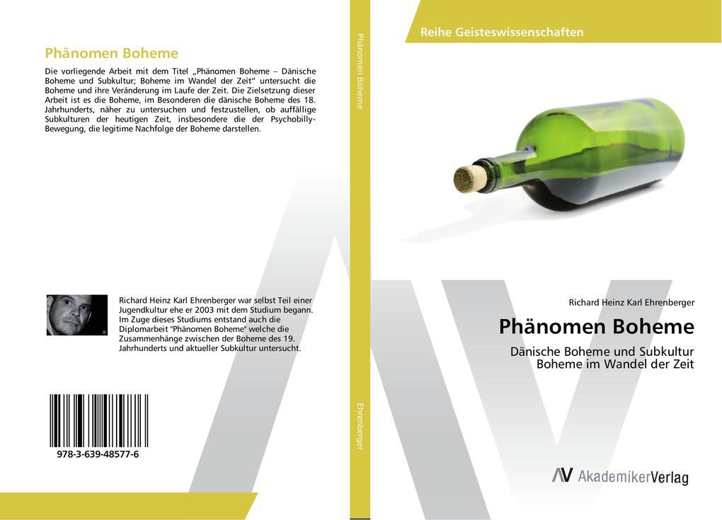 Phänomen Boheme als Buch von Richard Heinz Karl...