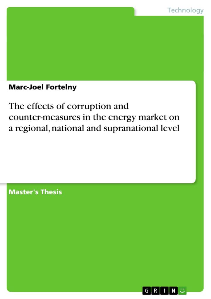The effects of corruption and counter-measures in the energy market on a regional, national and supranational level als Buch (gebunden)