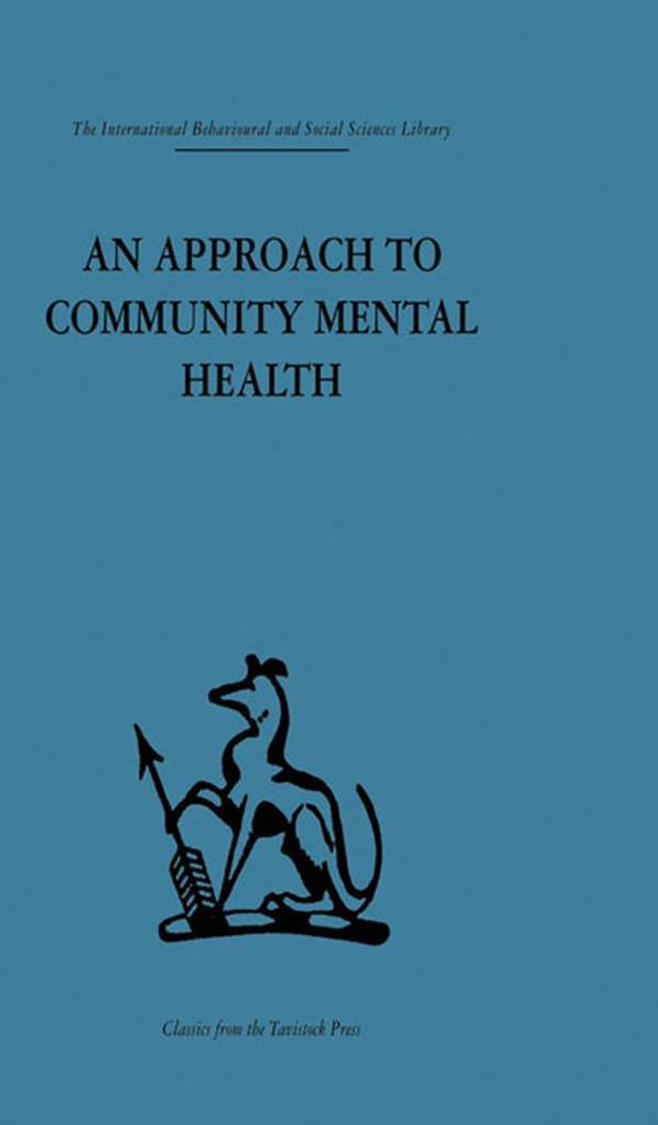 Approach to Community Mental Health als eBook D...