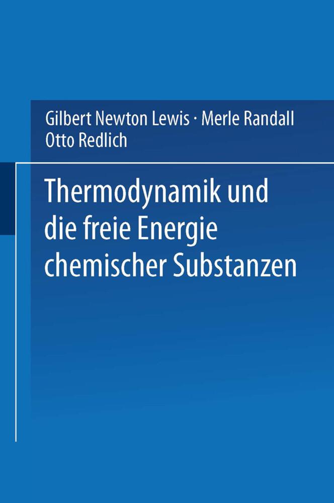 Thermodynamik und die Freie Energie Chemischer ...