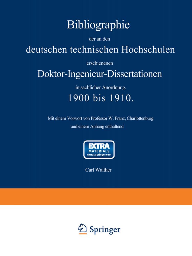 Bibliographie der an den deutschen Technischen ...