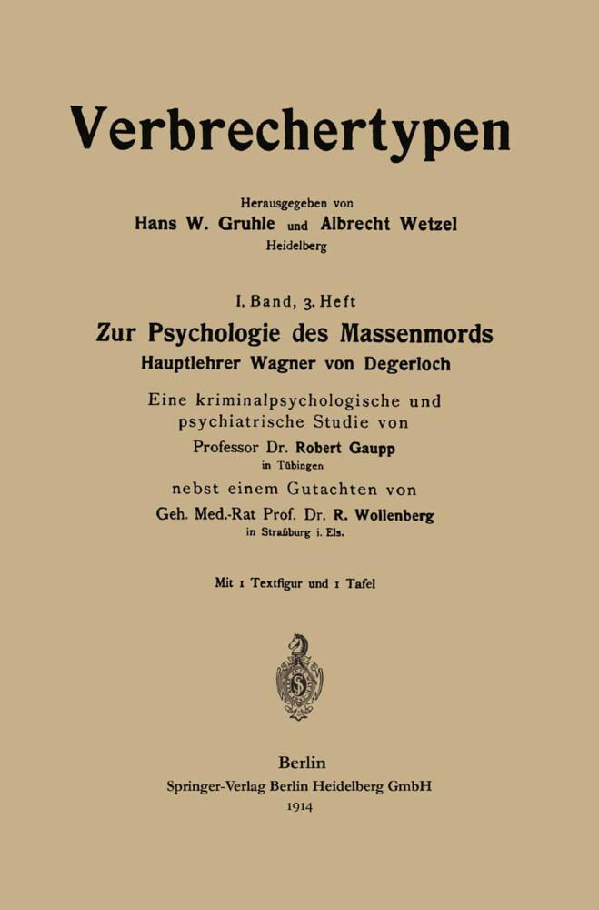 Zur Psychologie des Massenmords als Buch von Ro...