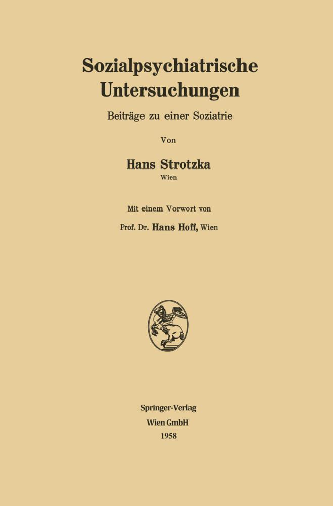 Sozialpsychiatrische Untersuchungen als Buch vo...