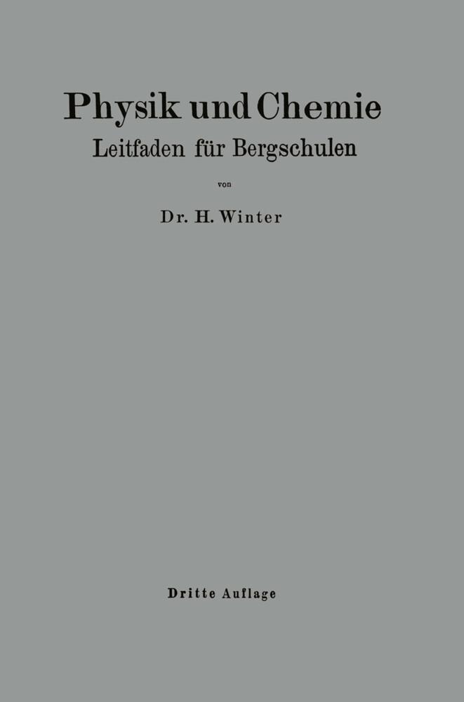 Physik und Chemie als Buch von Heinrich Winter