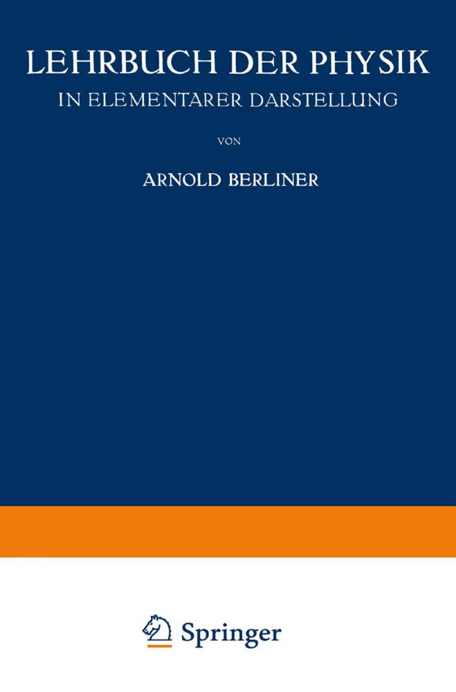 Lehrbuch der Physik als Buch von Arnold Berliner