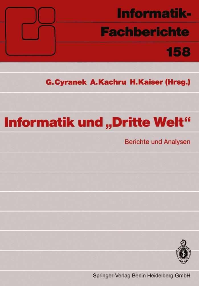 Informatik und Dritte Welt als Buch von