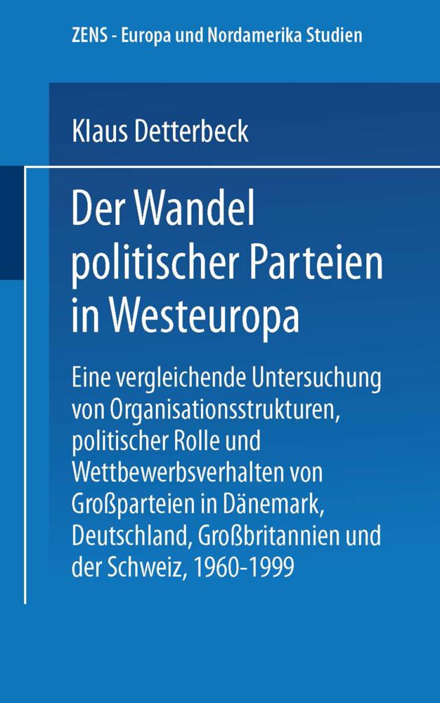 Der Wandel politischer Parteien in Westeuropa a...