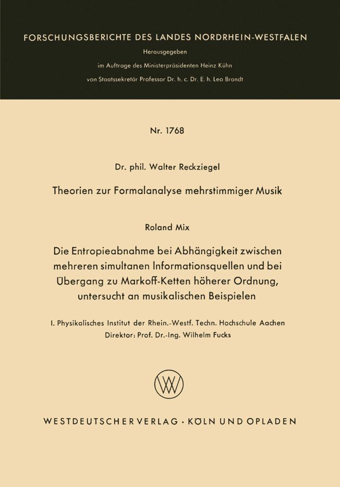 Theorien zur Formalanalyse mehrstimmiger Musik ...