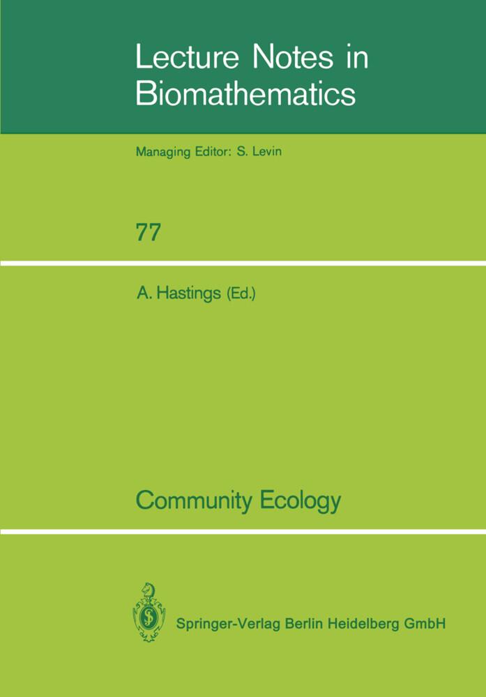 Community Ecology als Buch von