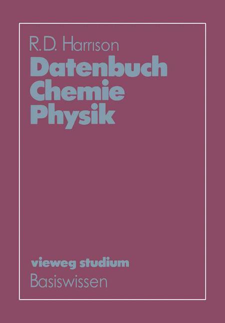 Datenbuch Chemie Physik als Buch von