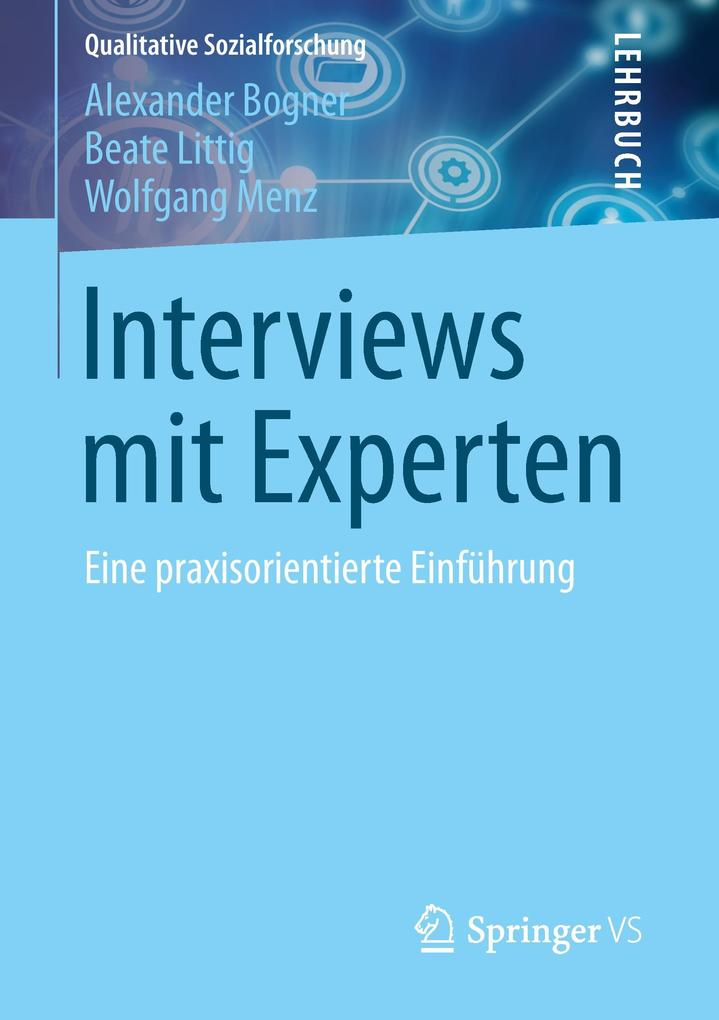 Interviews mit Experten als Buch