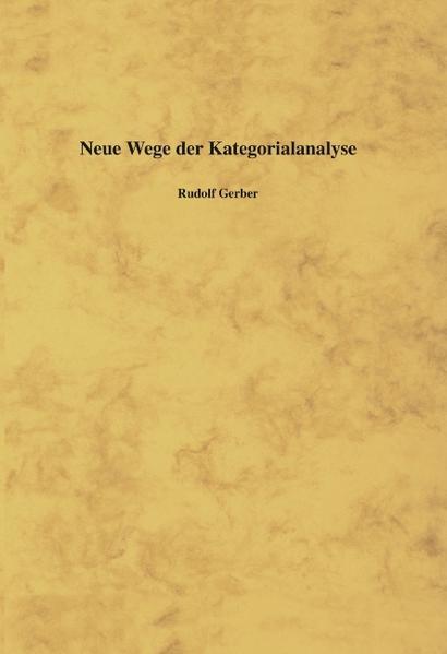 Neue Wege der Kategorialanalyse als Buch