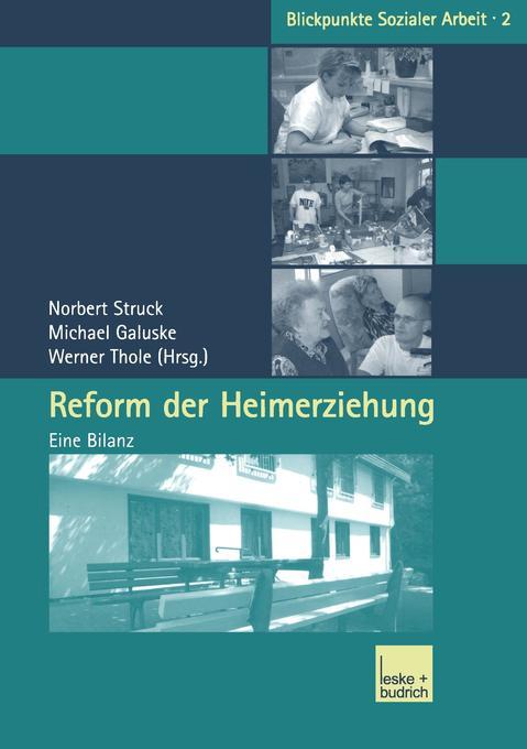Reform der Heimerziehung als Buch