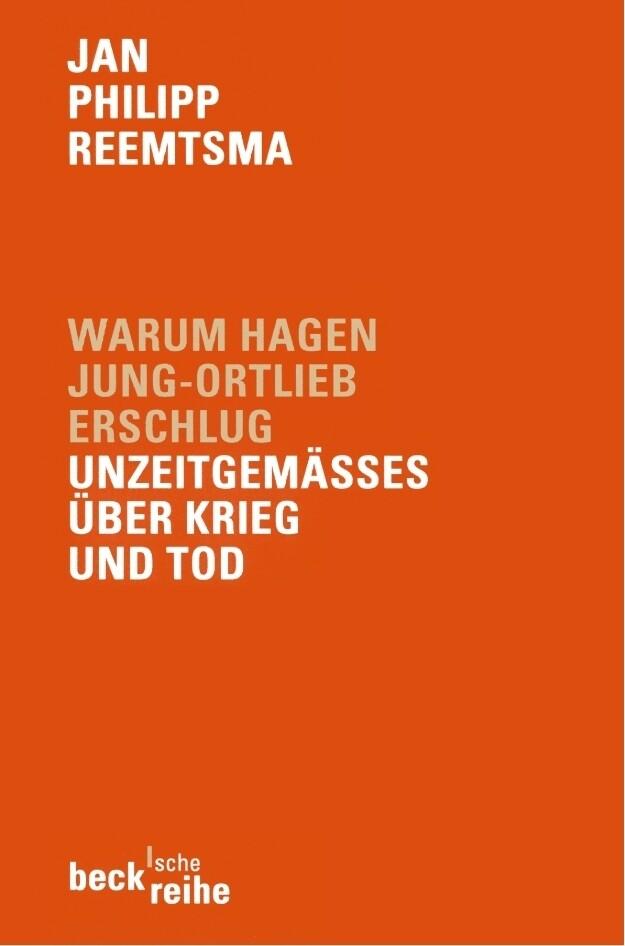 Warum Hagen Jung-Ortlieb erschlug als Taschenbuch