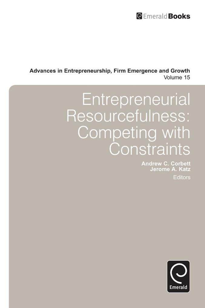 Advances in Entrepreneurship, Firm Emergence an...