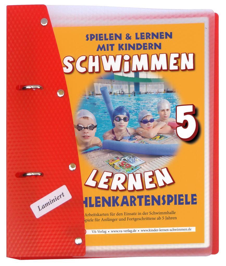 schwimmen lernen 05 zahlenkartenspiele laminiert