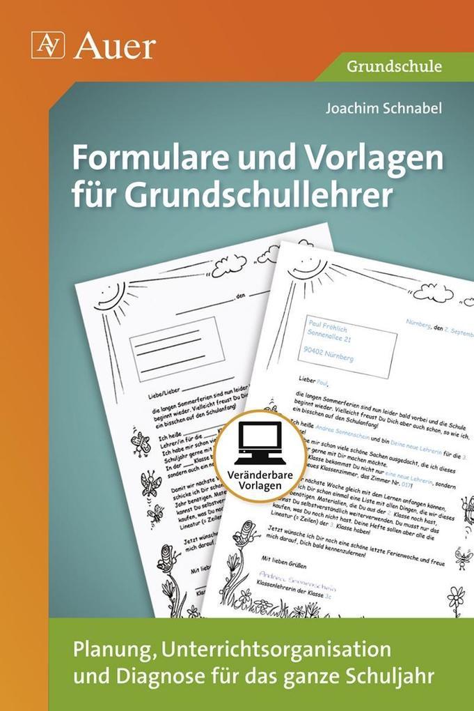 Formulare und Vorlagen für Grundschullehrer