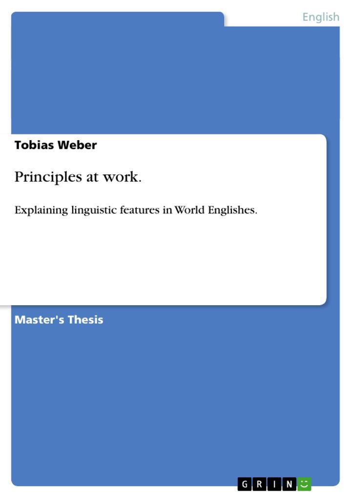 Principles at work. als Buch von Tobias Weber
