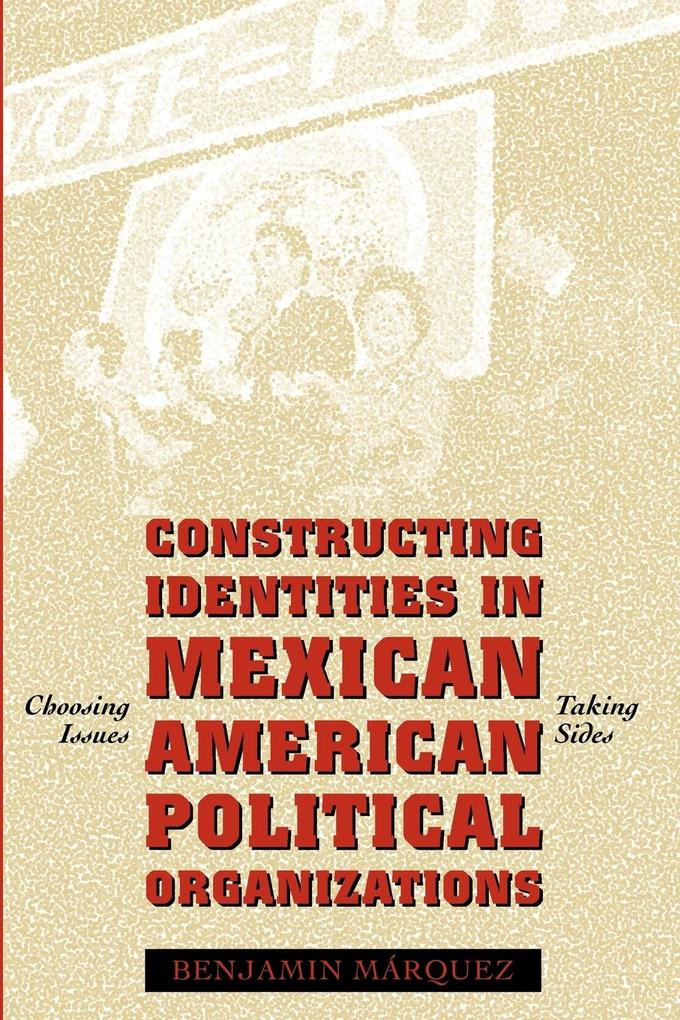 Constructing Identities in Mexican-American Political Organizations: Choosing Issues, Taking Sides als Taschenbuch