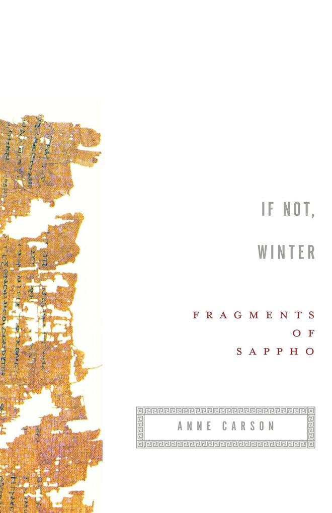 If Not, Winter: Fragments of Sappho als Taschenbuch