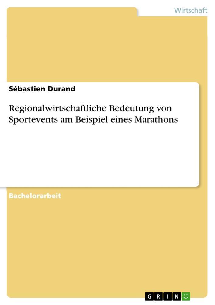 Regionalwirtschaftliche Bedeutung von Sporteven...