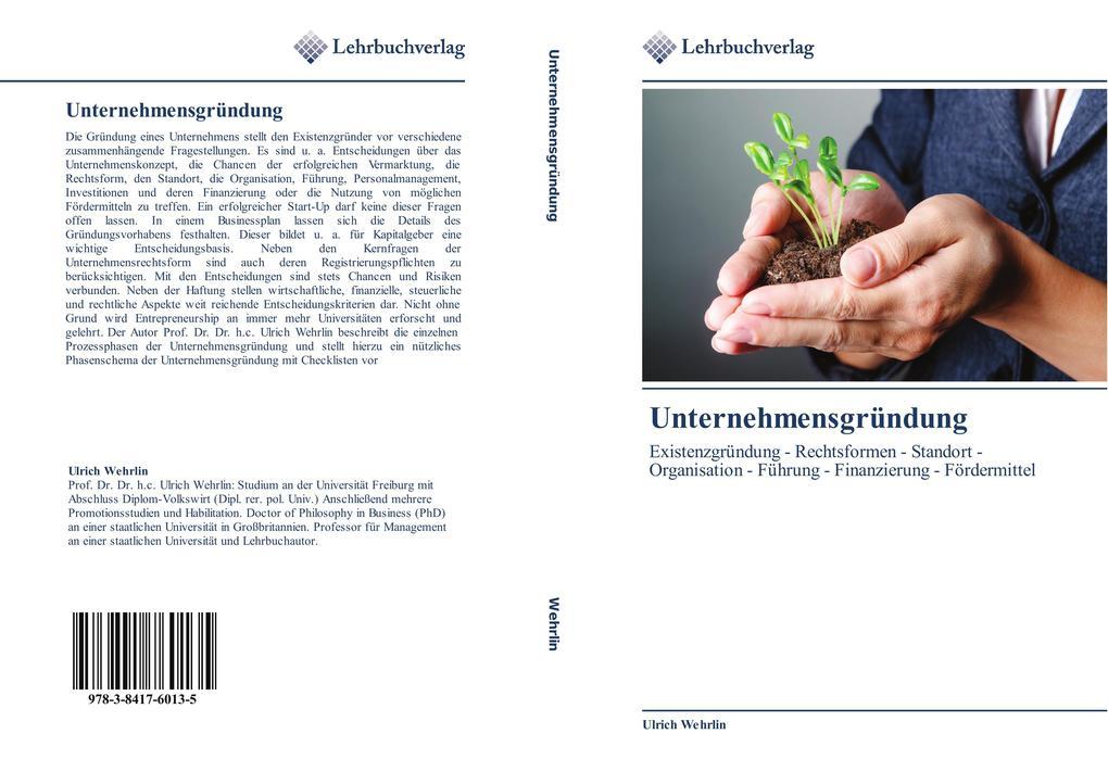 Unternehmensgründung als Buch von Ulrich Wehrlin