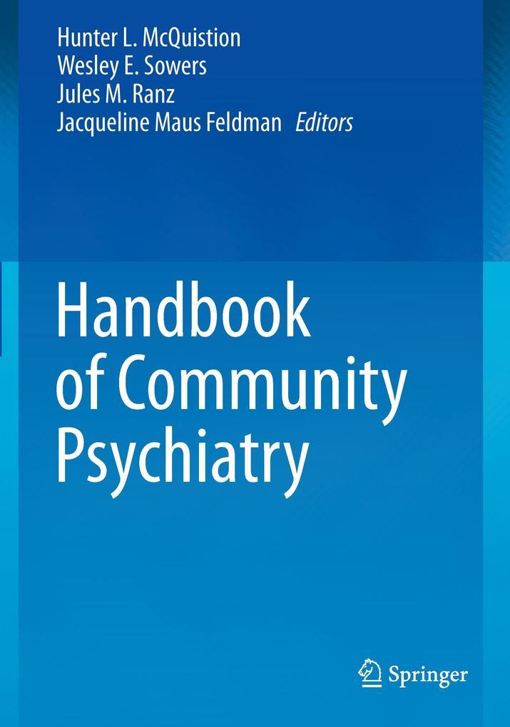 Handbook of Community Psychiatry als Buch von