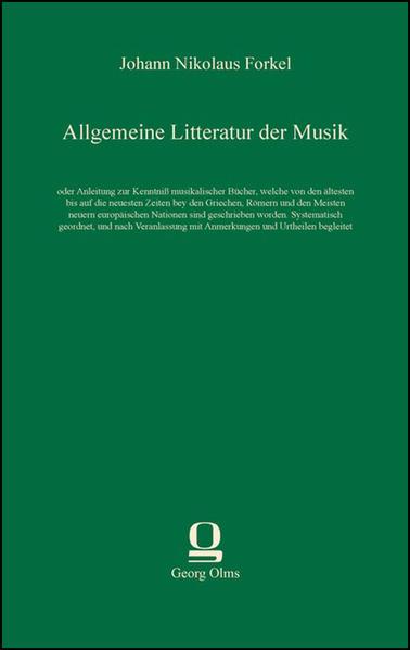 Allgemeine Litteratur der Musik als Buch von Jo...