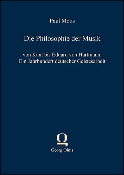 Die Philosophie der Musik als Buch von Paul Moos