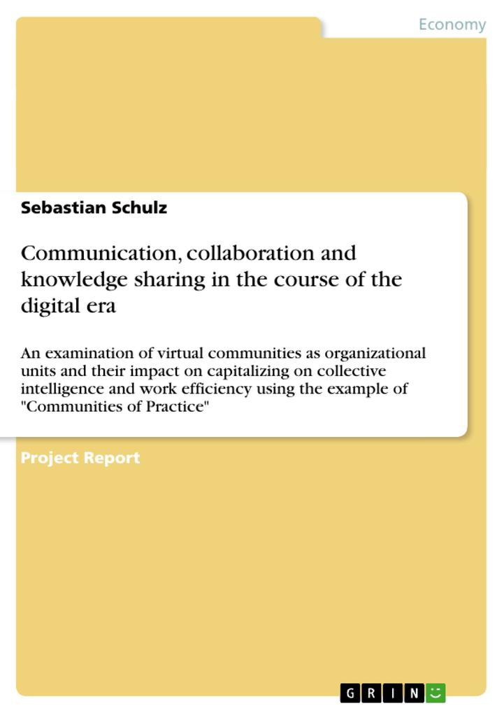 Communication, collaboration and knowledge shar...