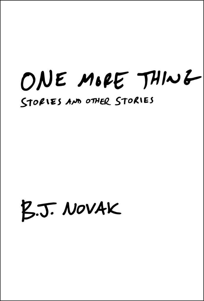 One More Thing als eBook epub