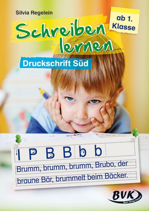 Schreiben lernen - Druckschrift Süd als Buch vo...