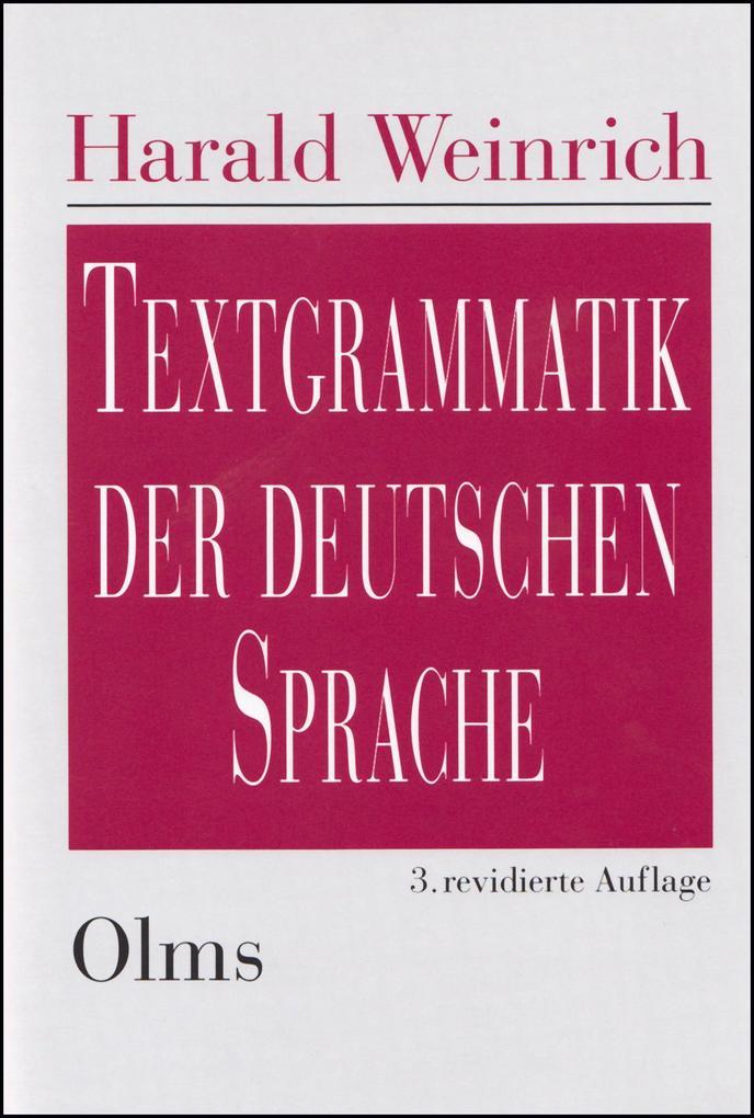 Textgrammatik der deutschen Sprache als Buch