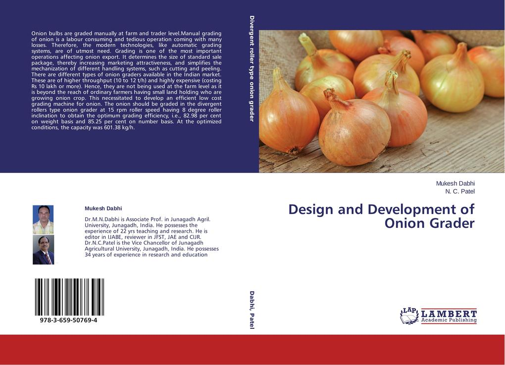 Design and Development of Onion Grader als Buch...