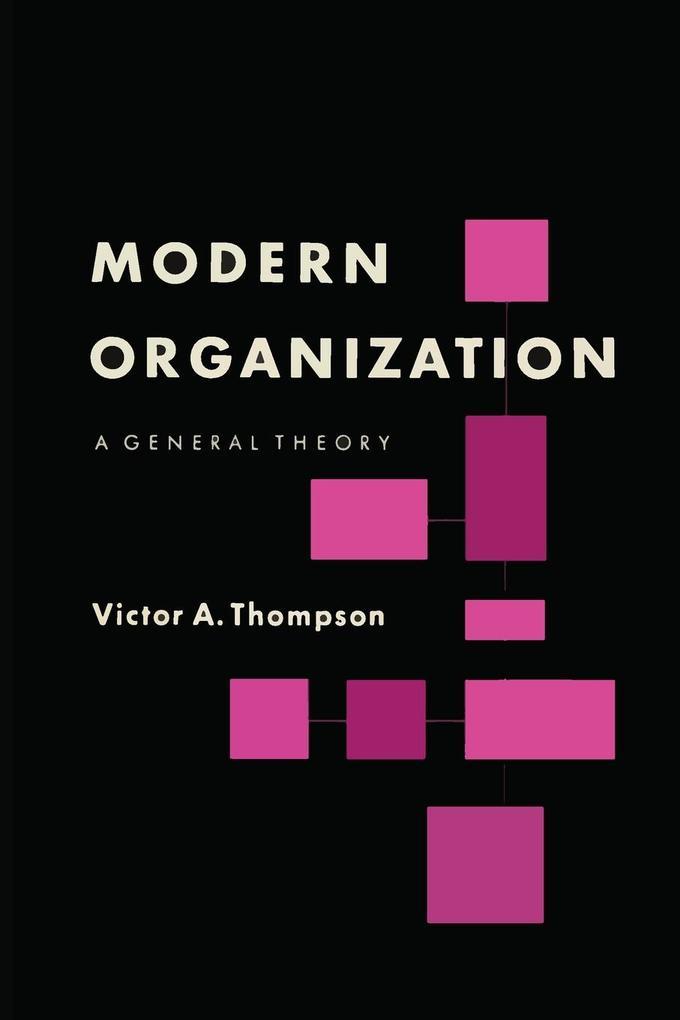 Modern Organization als Taschenbuch von Victor ...